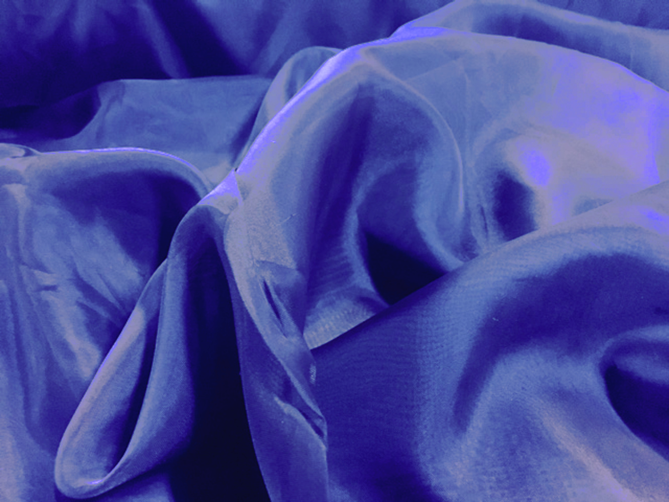 "118"" Royal Blue Voile Fabric By The Yard"