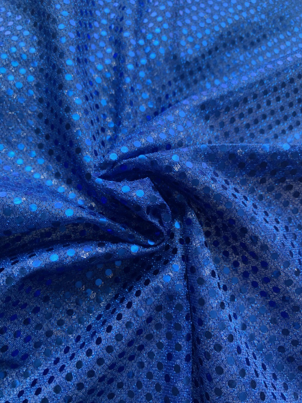 "44/45"" Royal Blue Dot Sequin Faric By The Yard"