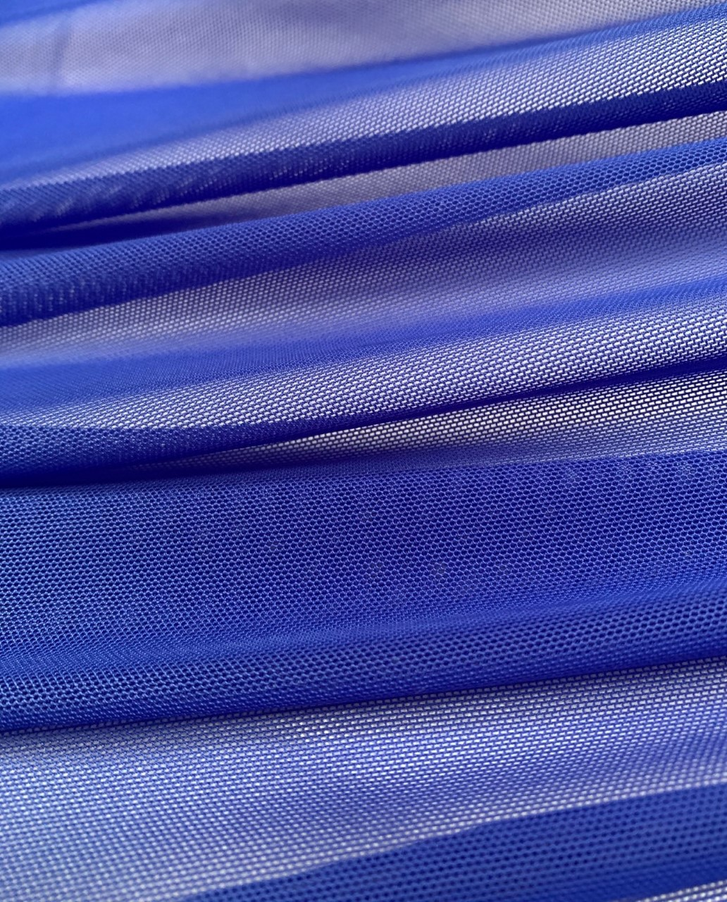 "58/60"" Wide Royal Blue Power Mesh 90% Nylon 10% Spandex Per Yard"