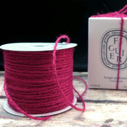 2 mm Burgundy Jute Twine - 100 Yards