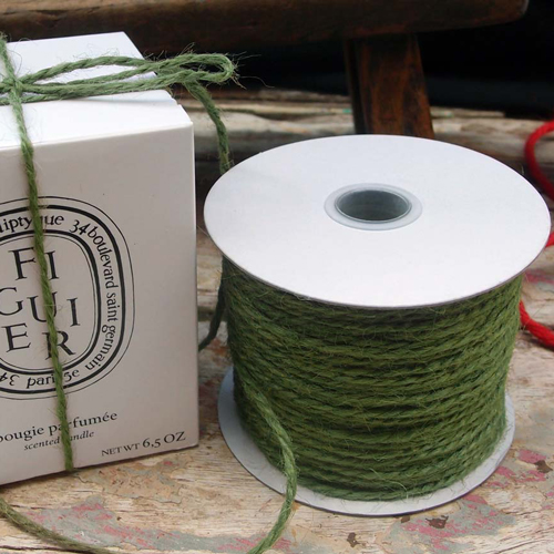 2 mm Moss Green Jute Twine - 100 yards