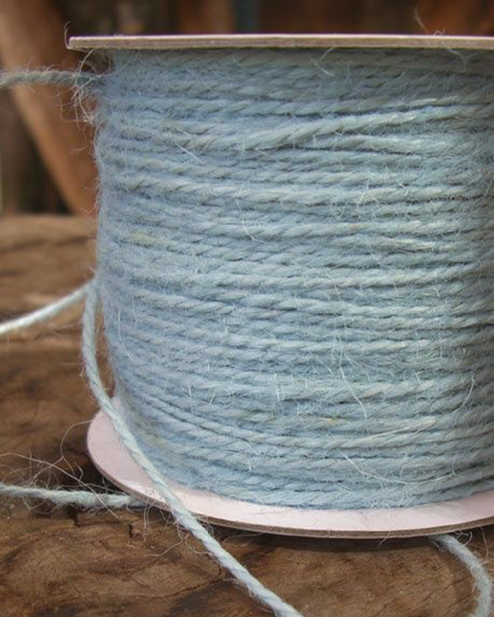 2 mm Light Blue Jute Twine - 100 Yards - Click Image to Close