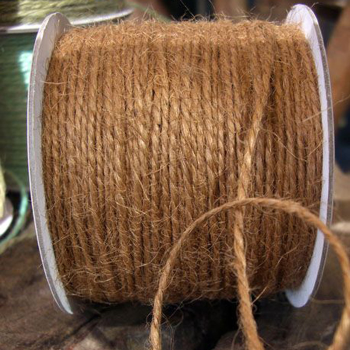 2 mm Light Brown Jute Twine - 100 Yards