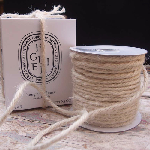 3.5 mm Off White Jute Twine - 25 Yards