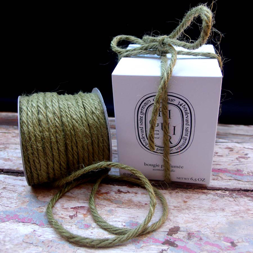 3.5 mm Green Jute Twine - 25 Yards