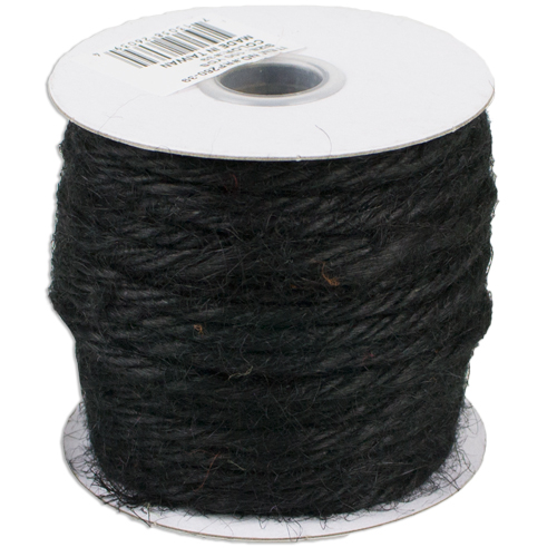 3.5 mm Black Jute Twine - 25 Yards