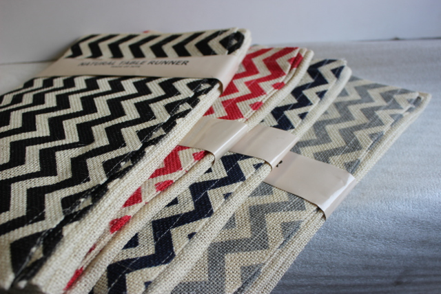 Chevron Burlap Table Runners