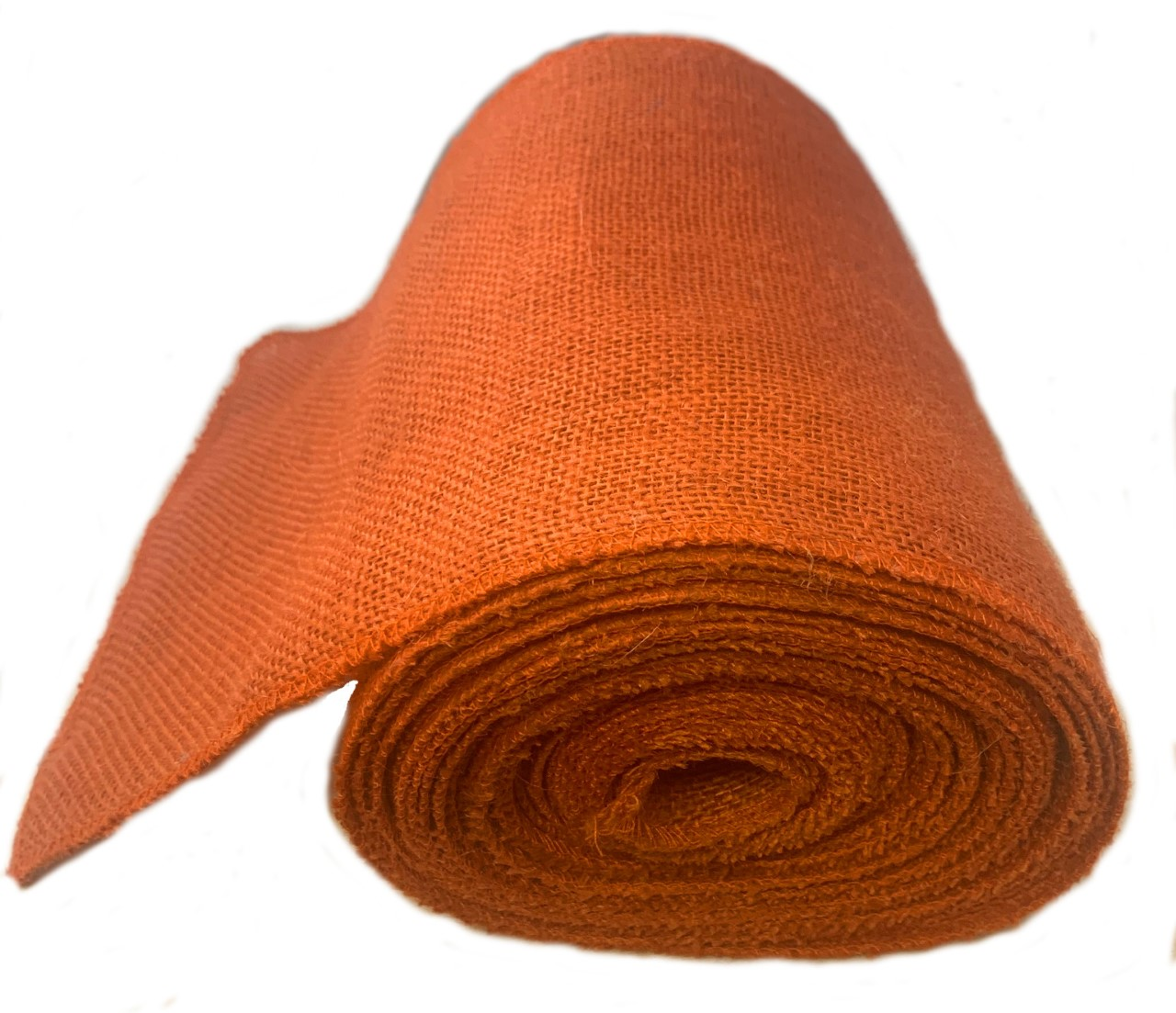 "9"" Burnt Sienna Burlap Ribbon 10 Yard Roll (Serged) Made in USA"