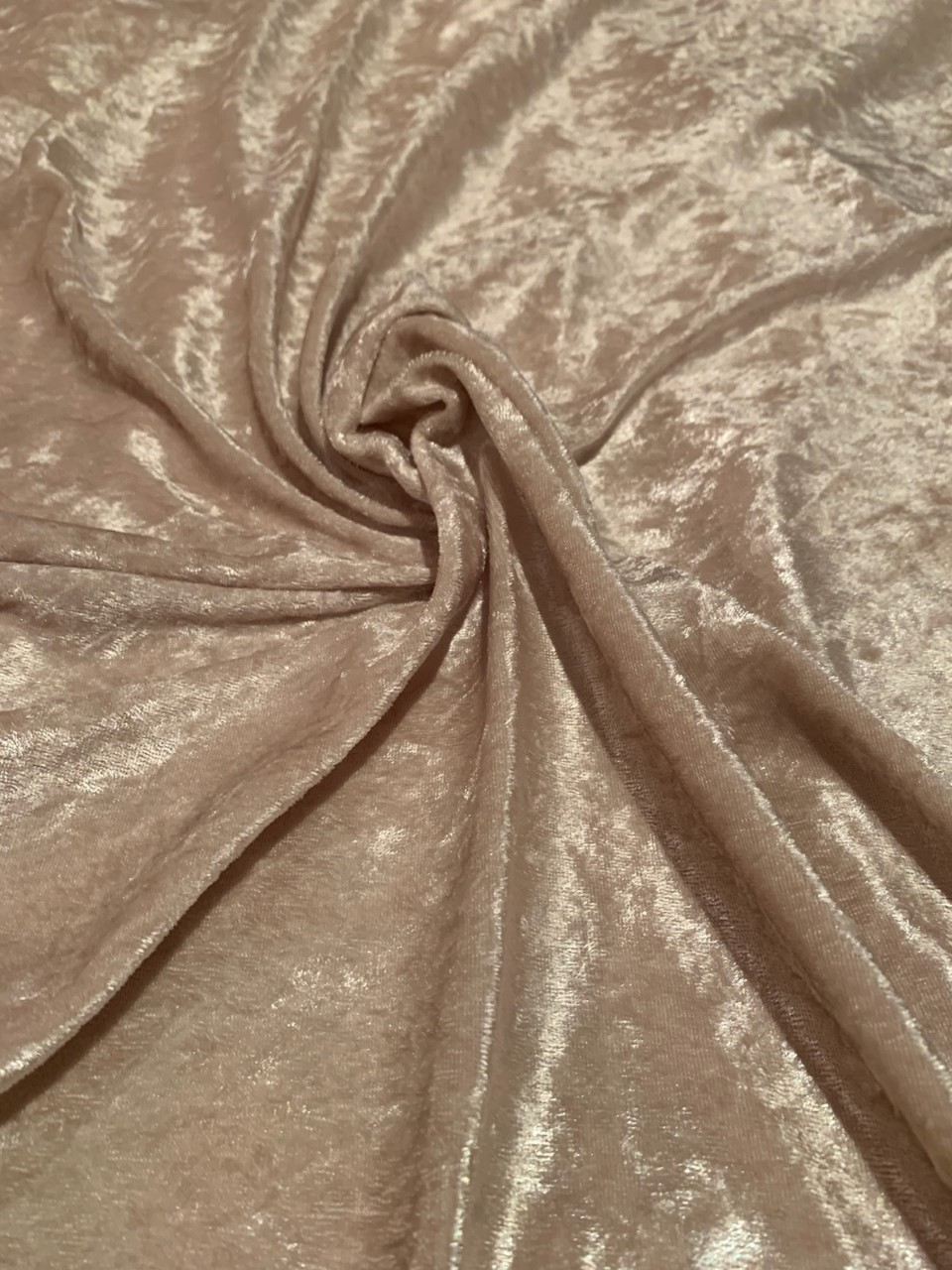 "58"" Tan Stretch Velour Fabric - By The Yard"