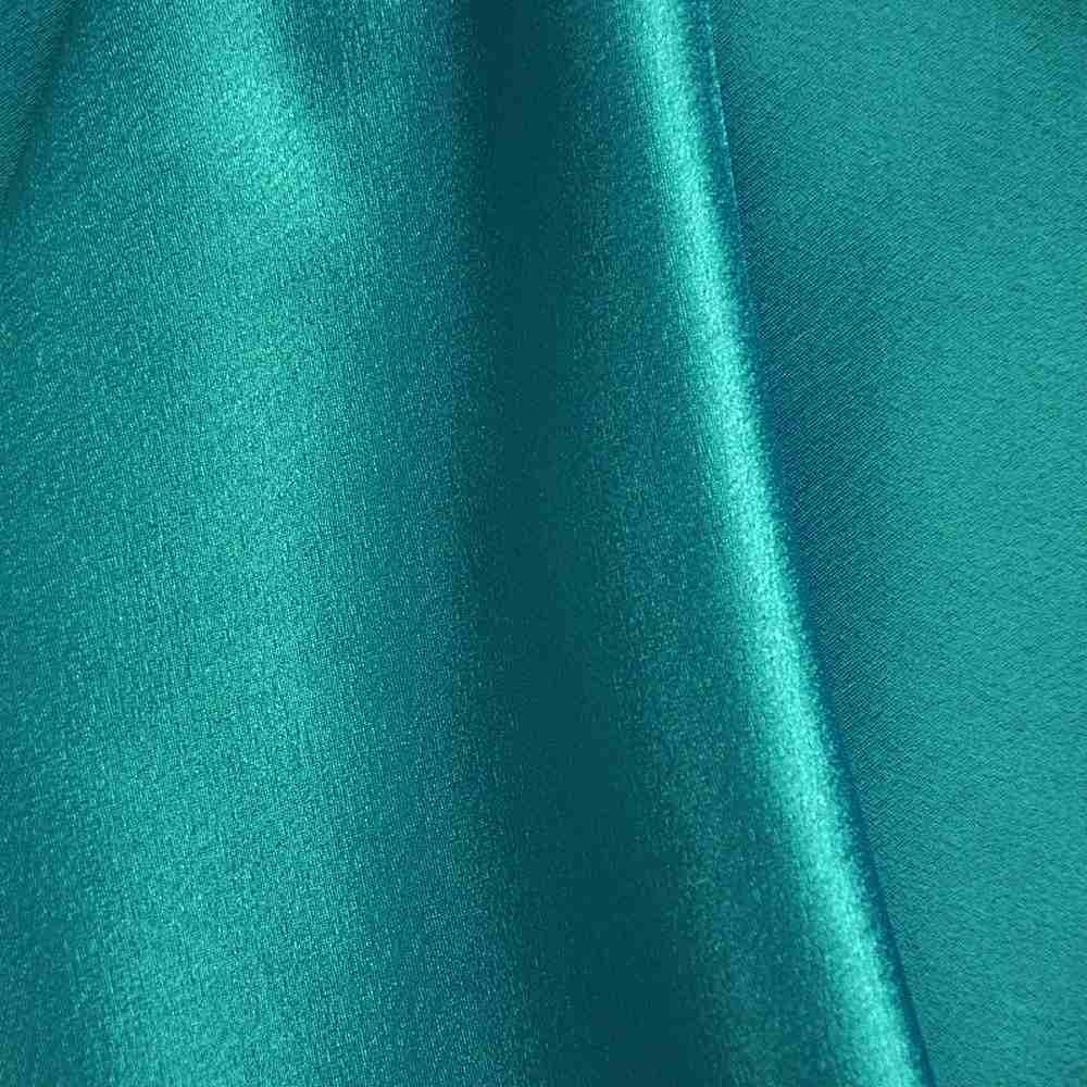 58/60 Teal Crepe Back Satin Fabric By The Yard - 100% Polyester