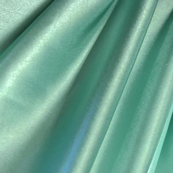 58/60 Turquoise Crepe Back Satin Fabric Per Yard 100% Polyester