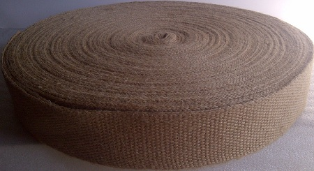 "Natural Webbing - 2"" Wide (No Stripe) 72 Yard Roll"