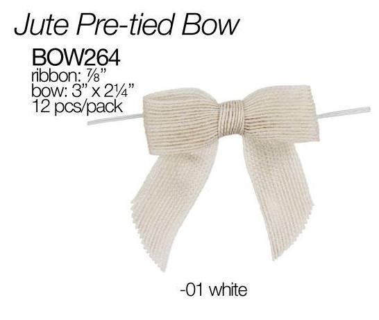 Surprising White Pretied Burlap Bows 12 Pk Bow264 01 5 99 Ncnpc Chair Design For Home Ncnpcorg