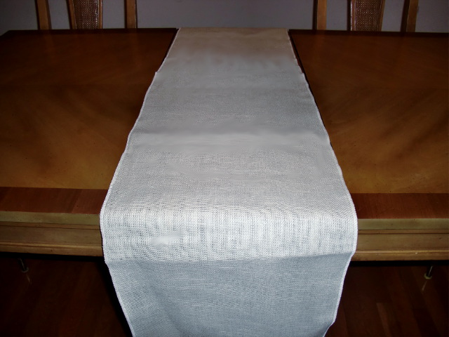 White Table Runner