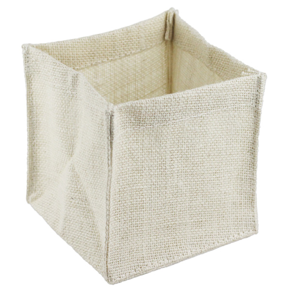 "White Burlap Vase Holder (12 Pk) 5"" x 5"" x 5"""