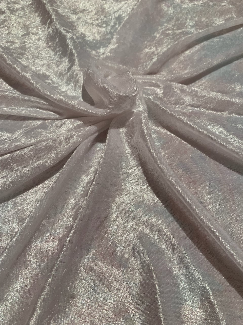 "58"" White Stretch Velour Fabric - By The Yard"