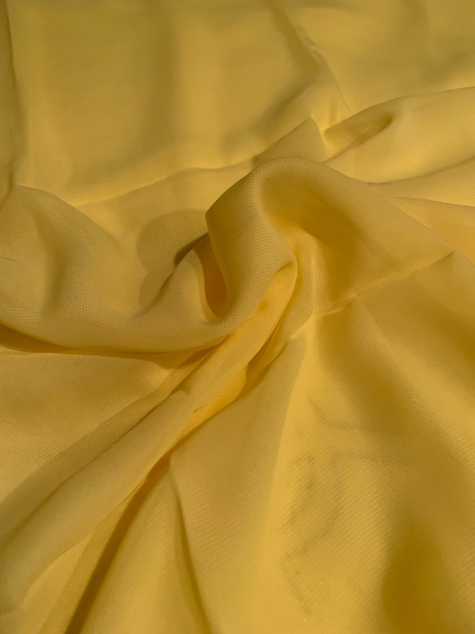 "58"" Yellow Chiffon Fabric By The Yard - Polyester"