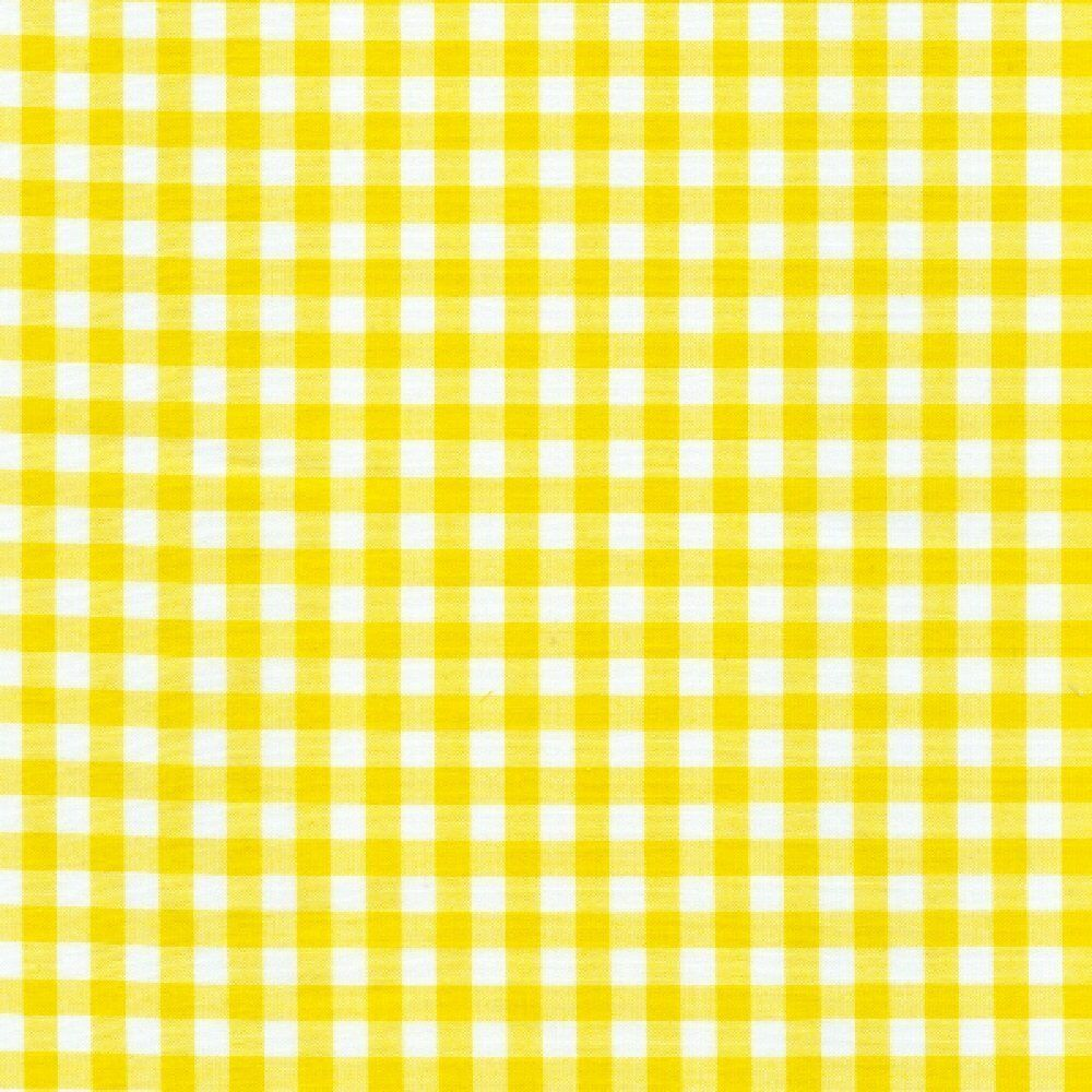 "54"" Yellow Gingham Vinyl with Felt Back - By The Yard"